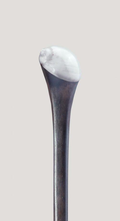 palo para el pelo con concha caracol blanco